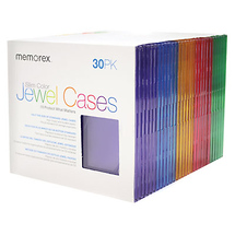 Memorex Slim CD Jewel Cases (30 Pack)
