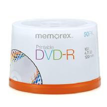 Memorex Printable 16X DVD-R 4.7GB (50 Pack Spindle)