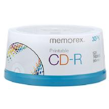 Memorex Printable CD-R (30 Pack Spindle)