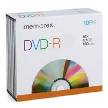 Memorex 16X DVD-R 4.7GB (10-Pack Slim Case)