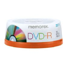 Memorex 16X DVD-R 4.7GB (25 Pack Spindle)