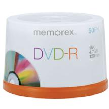Memorex 16X DVD-R 4.7GB (50 Pack Spindle)