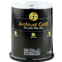 Delkin Devices Archival Gold CD-R 100-Disc Spindle