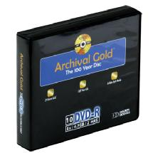 Delkin Devices Archival Gold DVD-R 10-Pack Wallet