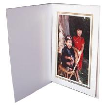 Dot Line Corp. White Photo Folder 5x7 (Vertical)