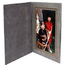 Dot Line Corp. Light Grey Marble Photo Folder 4x6