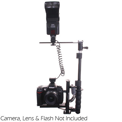 Digital Flash Bracket with Off Camera Shoe Cord & Remote (3 pin) Control for Canon EOS D Series Digital Cameras Image 0