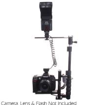 RPS Studio Digital Flash Bracket with Off Camera Shoe Cord & Remote (mini plug) Control for Canon EOS Digital Rebel Series