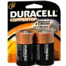 D Cell Coppertop Alkaline Batteries (2 Pack)