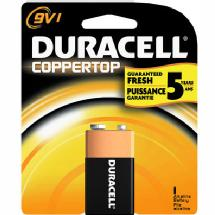 Duracell 9v Alkaline General Purpose Coppertop Battery