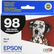 Epson 98 Black High-Capacity Claria Hi-Definition Ink Cartridge