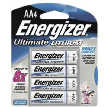 Energizer L91BP4 E2 Lithium AA Battery (4 Pack)