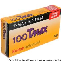 Kodak T-Max 100 120mm Black & White Negative Film - Single Roll