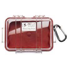 Pelican 1020 Micro Hard Case (Clear Red)