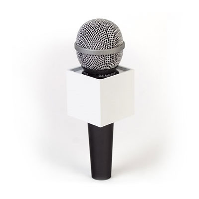 Microphone Flag Cube (White) Image 0