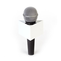 PSC 3-Sided Microphone Flag (White)