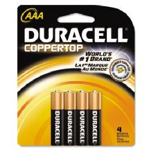 Duracell AAA 1.5V Alkaline Coppertop Batteries (4 Pack)