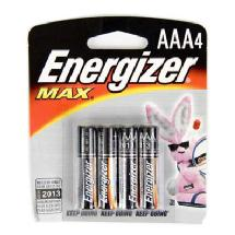 Energizer 57E3A4 Max Alkaline AAA Battery (4 Pack)