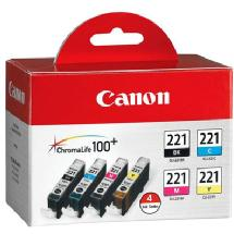 Canon CLI-221 Ink Cartridge Multi Pack (4 Cartridges)