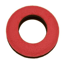 Bluestar Round Microfiber Eyepiece Cushion (Large, Red)