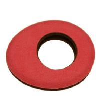 Bluestar Oval Microfiber Eyepiece Cushion (Large, Red)