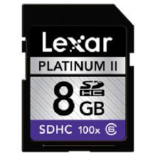 Lexar Media 8GB Platinum II 100x Class 6 Secure Digital (SDHC) Card