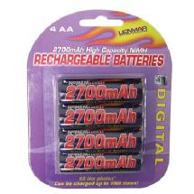 Lenmar AA Size Rechargeable Nickel-Metal Hydride Batteries (4 Pack)