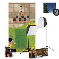 uLite 2-Light 1000-watt Softbox Kit with Educational Floormat System, and includes Coupon for FREE Wescott Backdrop Rental