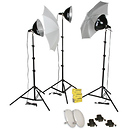 KT1500S Three Light Thrifty Intermediate Photoflood Kit