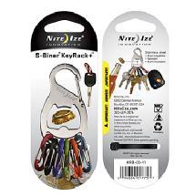 Nite Ize S-Biner Key Rack + Bottle Opener (Stainless Steel)