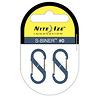 Nite Ize S-Biner Size-0, Double Gated Carabiner (2 Pack - Slate)