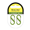 Nite Ize S-Biner Size-0, Double Gated Carabiner (2 Pack - Lime)