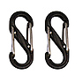 S-Biner Size-0, Double Gated Carabiner (2 Pack - Black) Thumbnail 0