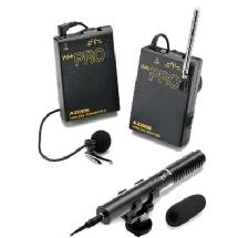 Azden WHD-PRO Pro Series Stereo Dicrectional Microphone & Wireless Lapel Audio System Kit