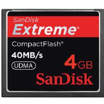 SanDisk 4GB Extreme 40MB CompactFlash Card