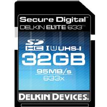 Delkin Devices 32GB Elite 633x UHS-I Secure Digital High Capacity Memory Card