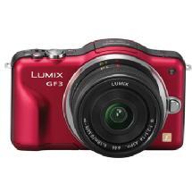 Samys Camera Lumix DMC-GF3 Digital Camera (Red) with 14mm Lens