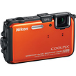 Coolpix AW100 Waterproof Digital Camera (Orange) - Manufacturer Reconditioned