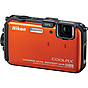 Nikon Coolpix AW100 Waterproof Digital Camera (Orange)