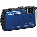 Coolpix AW100 Waterproof Digital Camera (Blue) - Manufacturer Reconditioned