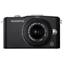 Olympus E-PM1 Pen Mini Digital Camera (Black) with 14-42mm Lens