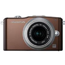 Olympus E-PM1 Pen Mini Digital Camera (Brown) with 14-42mm Lens - Open Box*