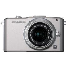 Olympus E-PM1 Pen Mini Digital Camera (Silver) with 14-42mm Lens